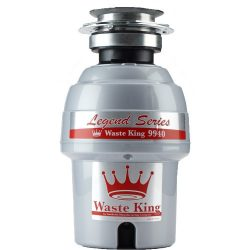 Waste King Legend Series 3/4 HP Continuous Feed Garbage Disposal with Power Cord – (9940)