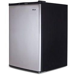 Della 3.0 cu ft Upright Compact Freezer, Reversible Door, Freestanding, Stainless Steel