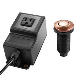 Air switch for Garbage Disposal 1 socket bronze plastic