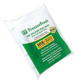 100 Pack – Freezer Fresh Quart Size Commercial Grade Vacuum Seal Individual Bags. Food Storage B ...