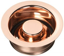 Jaclo 2815-PCU Garbage Disposal Flange with Stopper, Polished Copper