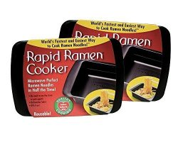 Rapid Ramen Cooker – Microwave Instant Ramen Noodles in 3 Minutes (Pack of 2) (Packaging m ...