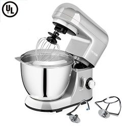 CHEFTRONIC Stand Mixer SM-985, 550W 6 Speeds Tilt-head Kitchen Electric Mixer 4.2 Quart Stainles ...