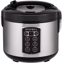 Rosewill 12-Cup Cooked 6-Cup Uncooked Digital Rice Cooker and Food Steamer with Stainless Steel  ...