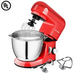 CHEFTRONIC Stand Mixer SM-985, 550W 6 Speeds Tilt-head Kitchen Electric Mixer 4.2 Quart Stainles ...