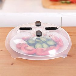 Hover Cover Microwave Magnetic Splatter Guard Lid With Steam Vent