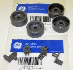 WD12X10277 AND WD12X10136 4PC+4PC GENUINE FACTORY OEM ORIGINAL DISHWASHER RACK ROLLER STUD AXLE  ...