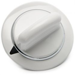 WE1M654 Timer Knob with Metal Ring for General Electric Dryer