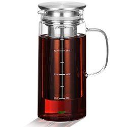 BTäT – Cold Brew Coffee Maker, Iced Coffee Maker, 1.0 Quart, Iced Coffee Pitcher, Glass Ca ...