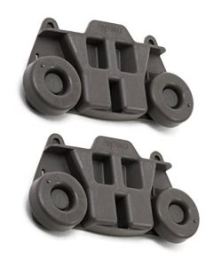 2 Pack W10195416 Lower Dishwasher Wheel Replacement by DR Quality Parts – Exact Fit for Wh ...