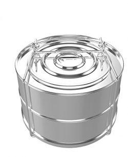 Stackable Pressure Cooker Steamer Insert: 2-Tier Stainless Steel Pressure Steamer Insert Pan for ...