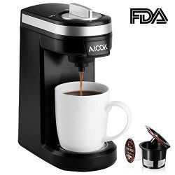 Aicok Single Serve Coffee Maker, Coffee Machine for Most Single Cup Pods including K-Cup Pods, Q ...