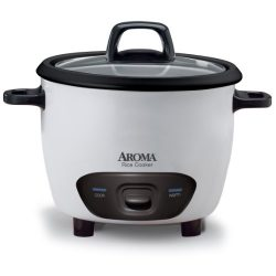 Aroma Housewares 6-Cup (Cooked)  (3-Cup UNCOOKED) Pot-Style Rice Cooker (ARC-743G)