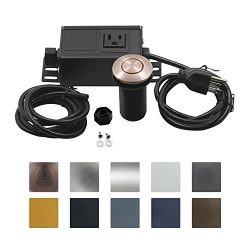 Sink Top Air Switch Kit, Garbage Disposal Part Built-Out Adapter Switch (LONG COPPER CHROME BUTT ...