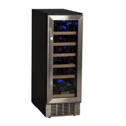 EdgeStar CWR181SZ 12 Inch Wide 18 Bottle Built-In Wine Cooler – Black/Stainless Steel