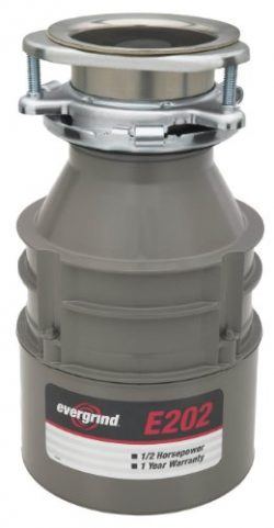 Emerson Evergrind E202 Food Waster Disposer, 1/2 Horsepower, 1-Pack