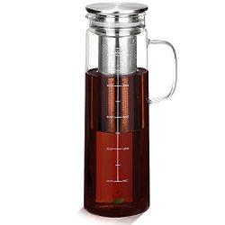 BTäT – Cold Brew Coffee Maker, 1.5 Quart, Iced Coffee Maker, Iced Coffee Pitcher, Glass Ca ...