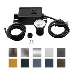 Sink Top Air Switch Kit, Garbage Disposal Part Built-Out Adapter Switch (SHORT POLISHED CHROME B ...