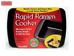 Rapid Ramen Cooker – Microwave Ramen in 3 Minutes – BPA Free and Dishwasher Safe  ...
