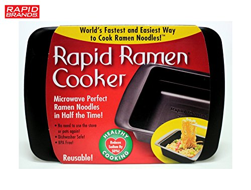 Rapid Ramen Cooker – Microwave Ramen in 3 Minutes – BPA Free and Dishwasher Safe  ...