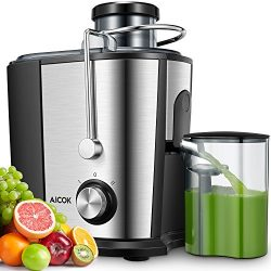 Aicok Juicer Juice Extractor, Wide Mouth Centrifugal Juicer BPA Free Food Grade Stainless Steel  ...