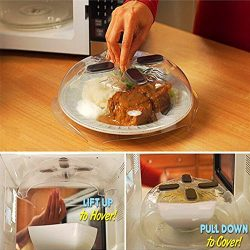 Microwave Hover Cover,Food Splatter Guard Lid Plate Cover Dishwasher-Safe & BPA-Free 11.5 –  ...