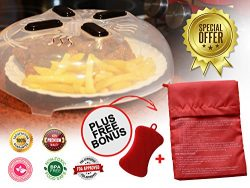 Microwave Magnetic Anti Splatter Plate Cover-Premium Quality Designed in USA with BPA free mater ...