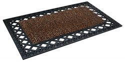 GrassWorx Clean Machine French Quarter Doormat, 24″ x 36″, Coffee Bean (10376331)