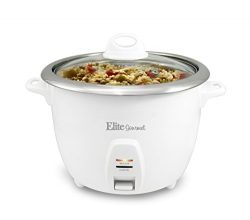 Elite Cuisine 10 Cup Cooked (5 Cups Uncooked) Professional Rice Cooker With Stainless Steel Pot  ...