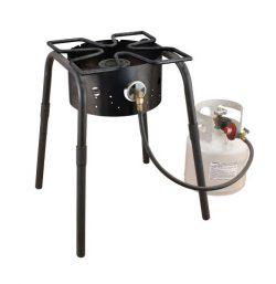 Camp Chef SH-140L High Pressure Single Burner Cooker with Detachable legs and Clover Leaf Surfac ...
