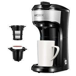 Single Serve Coffee Maker, Aicook Coffee Machine for Most Single Cup Pods like K-cup pods, Coffe ...
