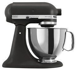 KitchenAid KSM150PSBK Artisan Series 5-Qt. Stand Mixer with Pouring Shield – Imperial Black