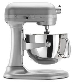 KitchenAid KP26M1XNP 6 Qt. Professional 600 Series Bowl-Lift Stand Mixer – Nickel Pearl