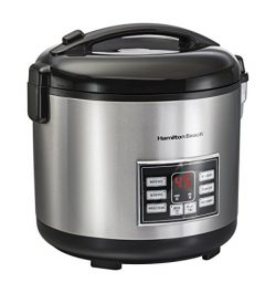 Hamilton Beach Rice & Hot Cereal Cooker, 10-Cups uncooked resulting in 20-Cups (Cooked), wit ...