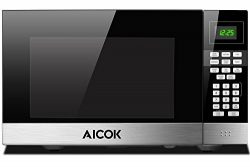 Microwave Oven 1.1 cu. ft. Aicok Countertop Microwave Multi-Stage Sensor Cooking, Touch Control  ...