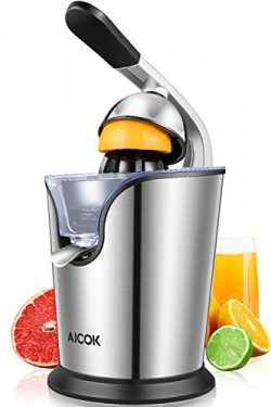 Aicok Citrus Juicer Electric 160W Powerful Stainless Steel citrus juicer squeezer With Soft Grip ...