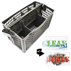 Dishwasher Silverware Replacement Basket Universal – Clean Dirty Magnet Sign – Utens ...