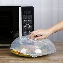 Microwave Splatter Cover, Food Splatter Guard Microwave Splatter Lid with Steam Vents | 11.5  ...