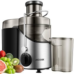 """Juicer Juice Extractor, Aicook 3"""" Wide Mouth Stainless Steel Centrifugal Juicer, BPA-Free, ..."""