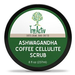 TreeActiv Ashwagandha Coffee Cellulite Scrub | Anti Cellulite Treatment | Natural Cellulite Remo ...