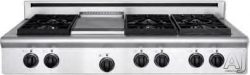 American Range Legend Series 48 Inch Pro-Style Gas Rangetop with 4 Sealed Burners, 11 Inch Gridd ...