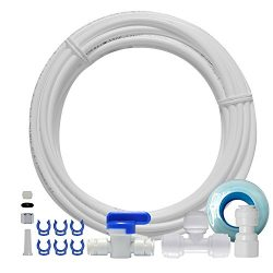 FS-TFC Ice Maker Water Line Kit And Refrigerator Water Line Kit For Reverse Osmosis Water System ...