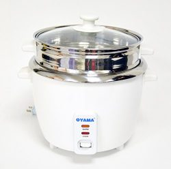 OYAMA Stainless 16-Cup (Cooked) (8-Cup UNCOOKED) Rice Cooker, Stainless Steel Inner Pot, Stainle ...