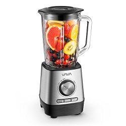VAVA Smoothie Blender, Professional 500W Blender with 51 oz / 1.5 L Glass Jar for Shakes, Smooth ...
