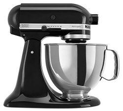 KitchenAid KSM150PSOB Artisan Series 5-Qt. Stand Mixer with Pouring Shield – Onyx Black