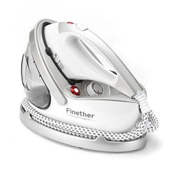 Finether 2 in 1 Garment Steamer Iron, Clothes Fabric Steamer with Extra-Fine Steam Nanoceramics  ...