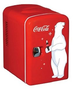 Coca Cola KWC-4 6-Can Personal Mini 12V DC Car and110V AC Cooler