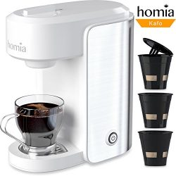 Coffee Maker Machine Electric Single Serve Brewer for Ground Coffee and K-cup Сompatible, 10 oz  ...