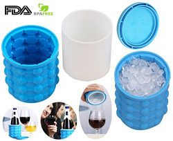 Ice Cube Maker Genie – The Revolutionary Space Saving Ice Cube Maker Silicone Ice Bucket,  ...