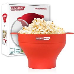Microwave Popcorn Maker – Microwave Popcorn Popper for Home – Collapsible Silicone B ...